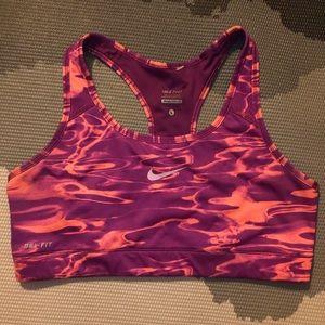 Nike Pro Victory Sports Bra Marble Purple Coral L